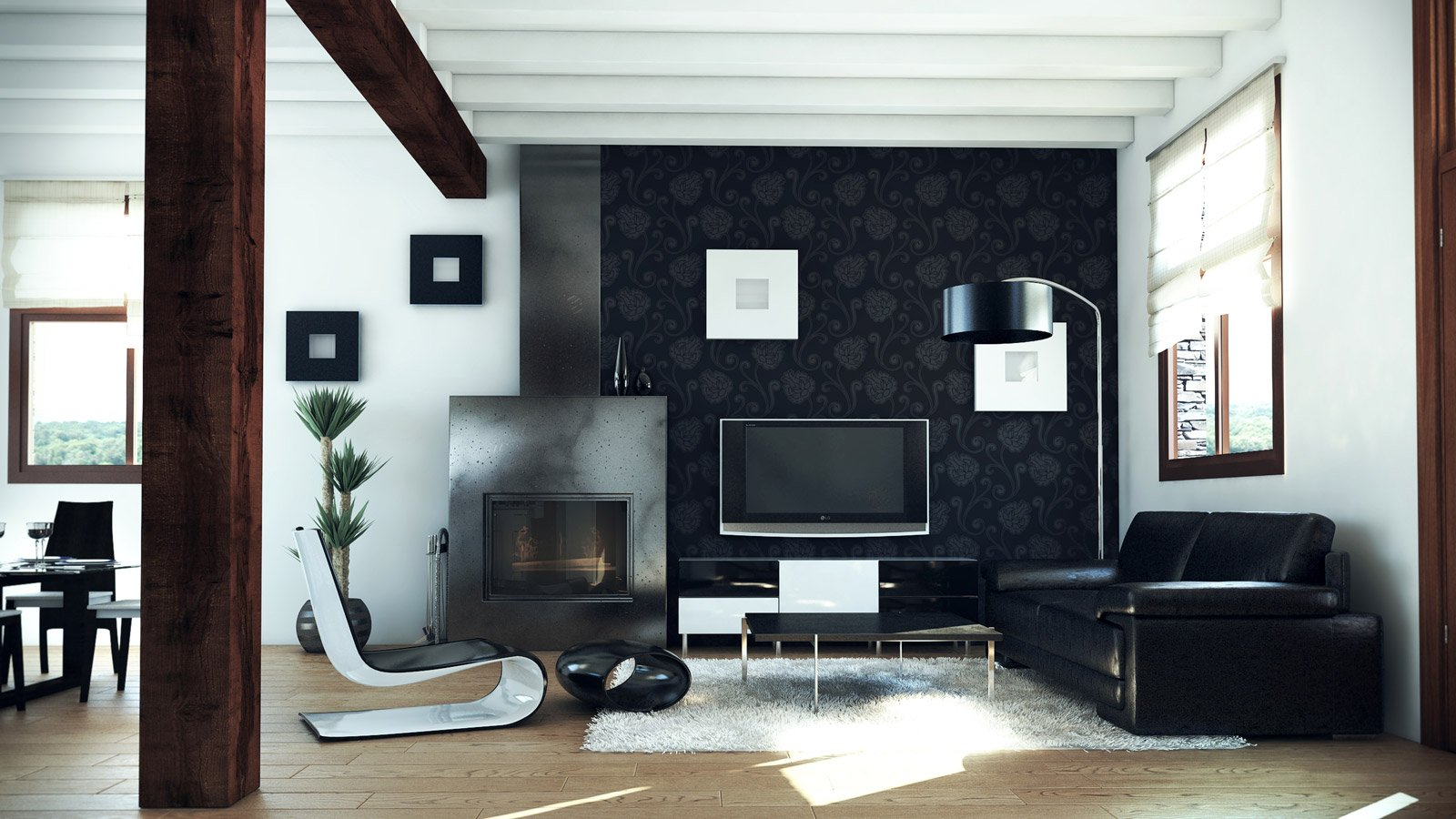 Interiorismo sal n vivienda estudio de dise o grafic3d - Interiorismo de salones ...