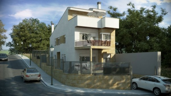 Infografias 3d passive house valladolid castilla y leon