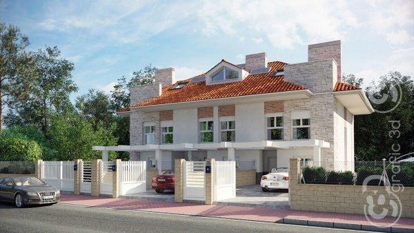 3D infografias Vallladolid Castilla y León viviendas adosadas