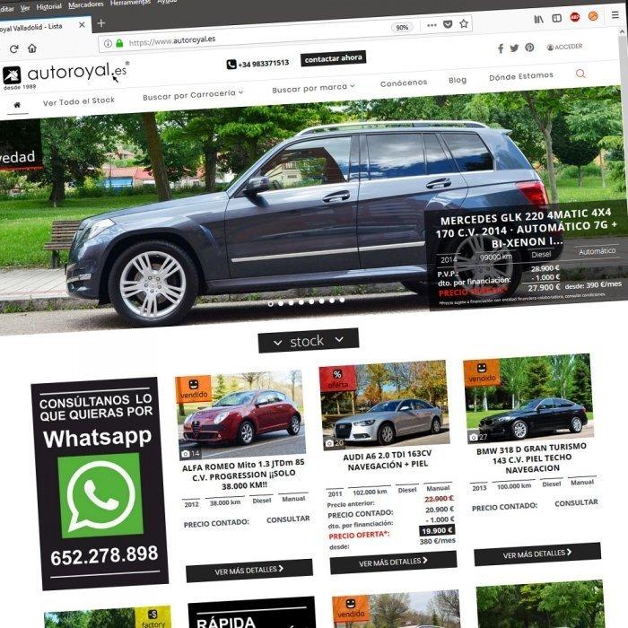 Diseño Web Valladolid Castilla y León Vehículos segunda mano